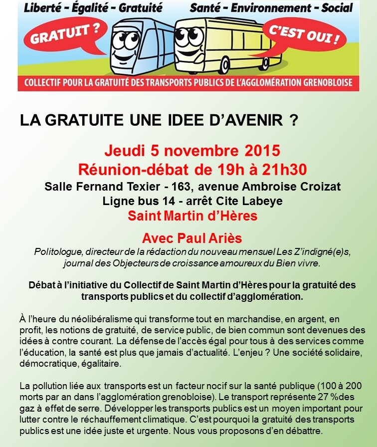 Débat Saint-Martin d'Hères